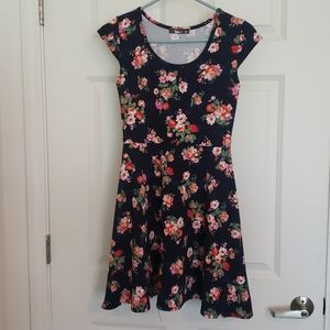 Flowered blue Pinc designer dress size M